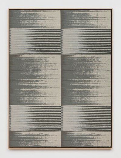 Mika Tajima, 'Negative Entropy (Stripe International Inc., Legal Department, Light Gray, Quad)', 2019