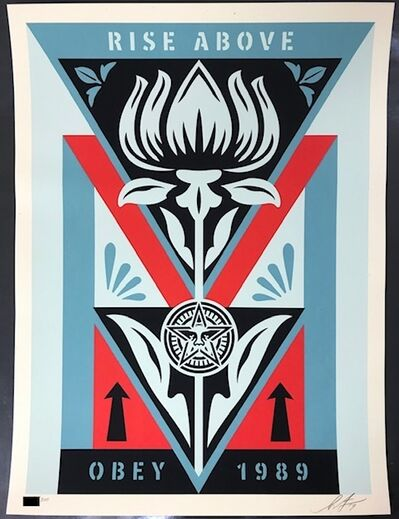 "Shepard Fairey, 'Obey Deco Flower ""Blue""', 2019"