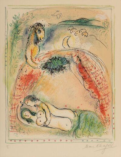 Marc Chagall, 'Oh happy bridegroom, from Sur la terre des dieux', 1967