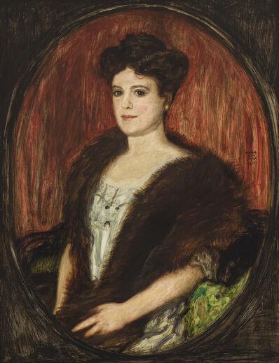 Franz von Stuck, 'Portrait of a Lady', 1907