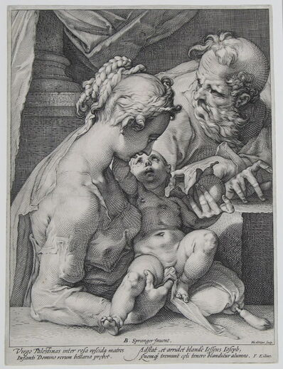 Hendrik Goltzius, 'The Holy Family with the Pear, after Bartolomeus Spranger', ca. 1589