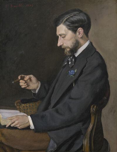 Frédéric Bazille, 'Edmond Maître', 1869