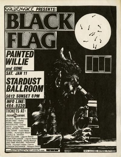 Raymond Pettibon, 'Original Raymond Pettibon Black Flag punk flyer ', 1985