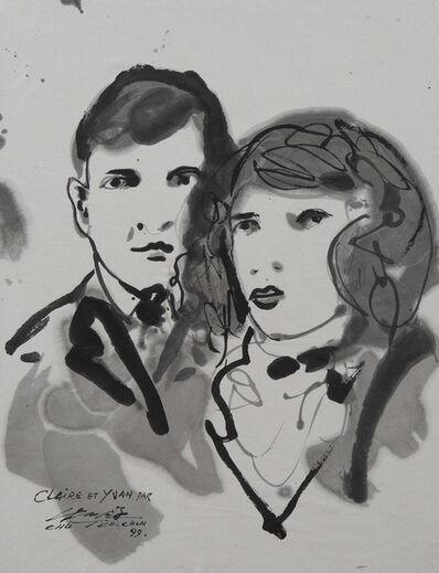 Chu Teh-Chun, 'Portraits de Claire et Yvan', 1999
