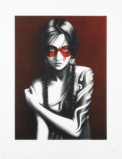 Fin Dac, 'Samurann (Red Etching)', 2017