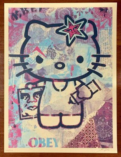 Shepard Fairey (OBEY), 'Hello Kitty Purple', 2012