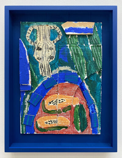 Rosa Roberts, 'Pot and Papayas (Blue Green)', 2021