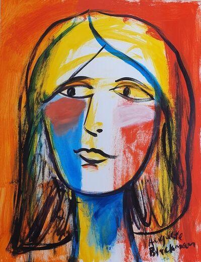 Auguste Blackman, 'Face in Colours', 2020