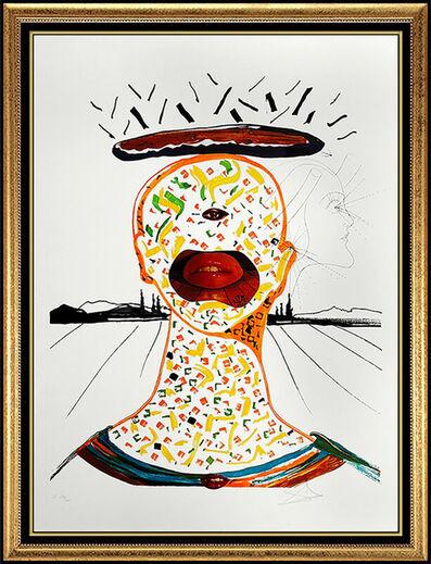 Salvador Dalí, 'Salvador Dali Original Color Lithograph Surreal Cyclops Portrait Signed Art Rare', 1975
