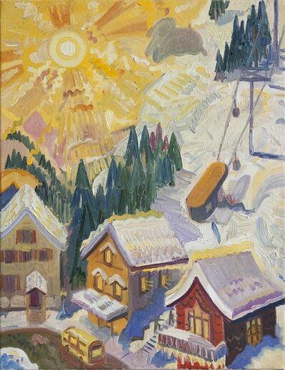 Aaron Zulpo, 'Sun Over the Ski Village', 2019