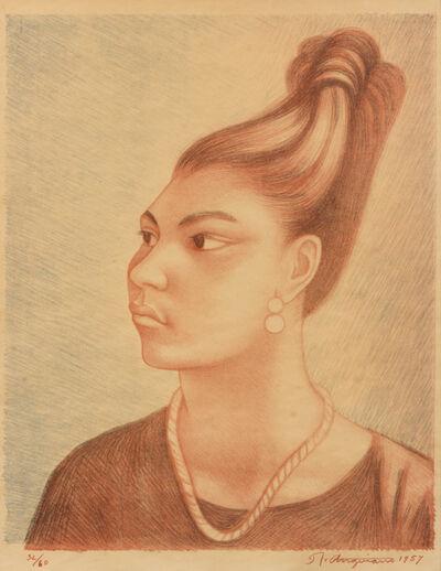 Raúl Anguiano, 'Untitled (mujer de profil)', 1957