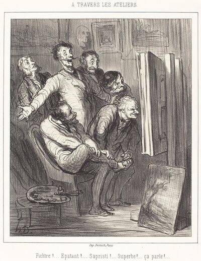 Honoré Daumier, 'A travers les ateliers', 1862