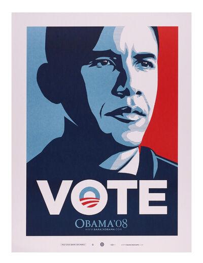 Shepard Fairey, 'VOTE (Obama)', 2008