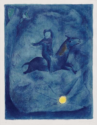 Marc Chagall, 'Mounting the Ebony Horse...', 1948