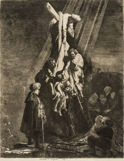 Rembrandt van Rijn, 'The Descent from the Cross: Second Plate', 1633