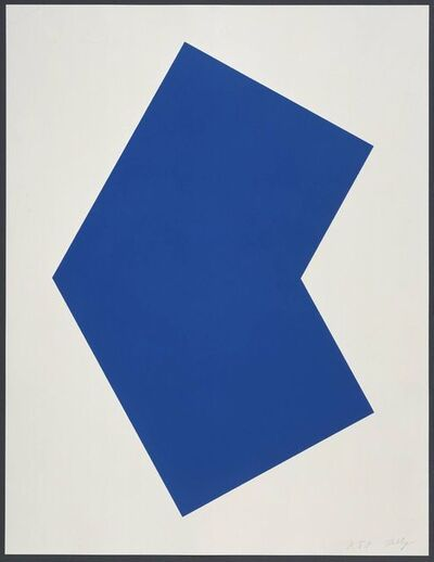 Ellsworth Kelly, 'Blue', 2001
