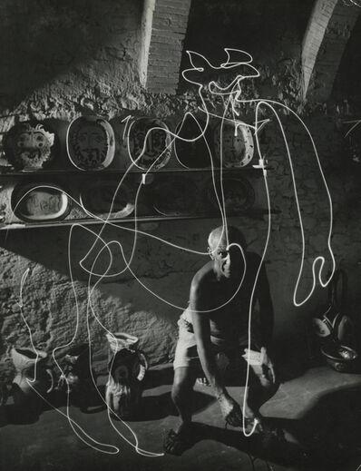 Gjon Mili, 'Picasso, Space Drawing', 1949