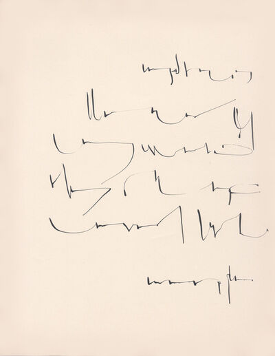 Mirtha Dermisache, 'Sin título (Carta)', ca. 1970