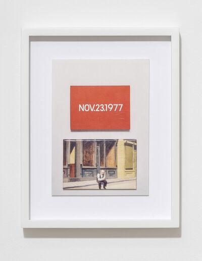 Max Frisinger, 'H.D.N.R.I.B.I.R. (On Kawara / Hopper)', 2016