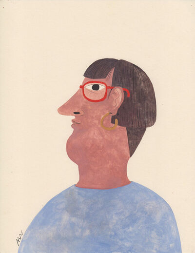 Audrey Helen Weber, 'Portrait with Glasses', 2017