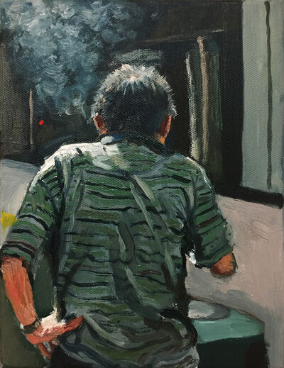Yeo Tze Yang, 'Green Striped Shirt', 2017