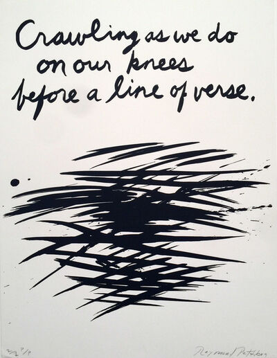 "Raymond Pettibon, '""Untitled, Crawling as we do on our Knees"" Original Print, HOLIDAY SALE TAKE 20% OFF NEXT THREE WEEKS', 1990"