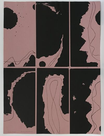 Louise Nevelson, 'Untitled (Lithograph on Black Paper with Pink Ink)', 1965-66