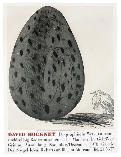 David Hockney, 'Galerie der Spiegel 1970 (Boy in an Egg) vintage poster', 1970