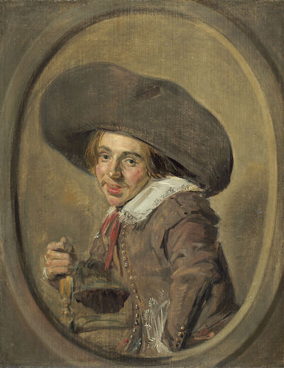Frans Hals, 'A Young Man in a Large Hat', 1626/1629