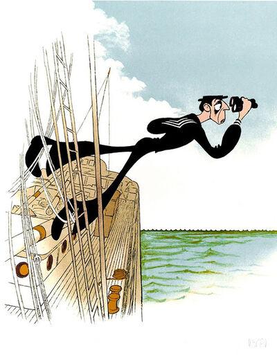 "Al Hirschfeld, '""Buster Keaton: The Navigator""', 1992"