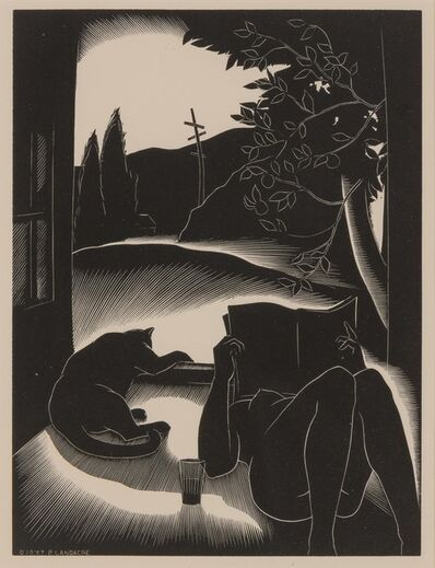 Paul Landacre, 'SULTRY DAY', 1937