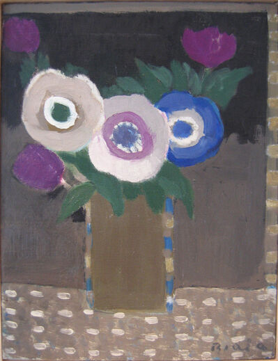 Janice Biala, 'Three Anemones and Three Tulips', 1996