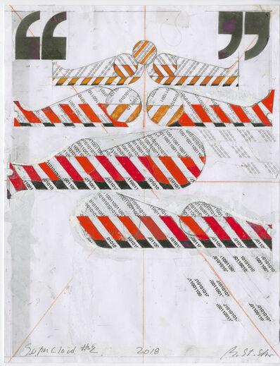 Barbara Stauffacher Solomon, 'Supercloud (study 2)', 2018