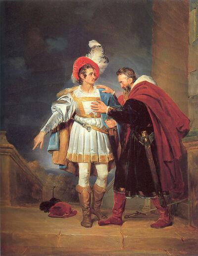 """Alexandre-Evariste Fragonard, 'Rodrigo de Bivar """"El Cid"""" and his father, Don Diego', 1827"""