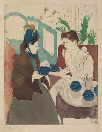 Mary Cassatt, 'Afternoon Tea Party', 1890/1891