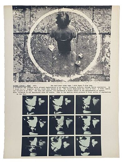 Dennis Oppenheim, 'Projects: Rocked Circle - Fear, 1971', 1973