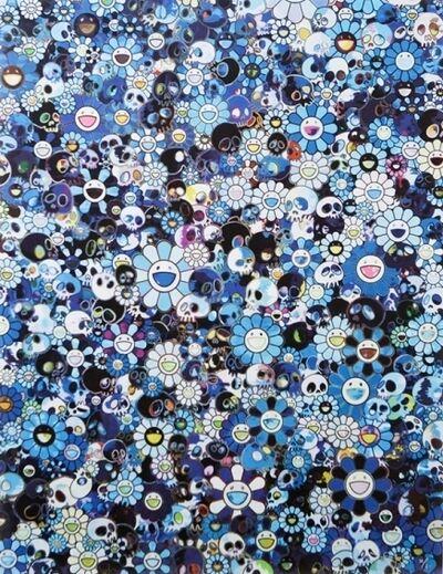 Takashi Murakami, 'Blue Flowers & Skull', 2016