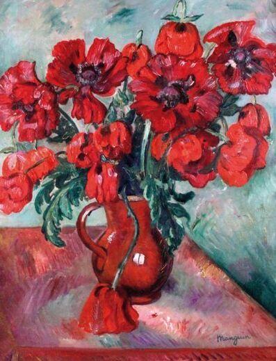 Henri Manguin, 'Grand vase de pavots', 1915