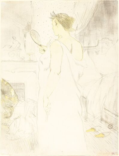 Henri de Toulouse-Lautrec, 'Woman at the Mirror (Femme à glace)', 1896
