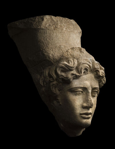 Unknown Roman, 'Ancient Colossal Head of Tyche (Fortuna) ', Roman-1st century A.D.