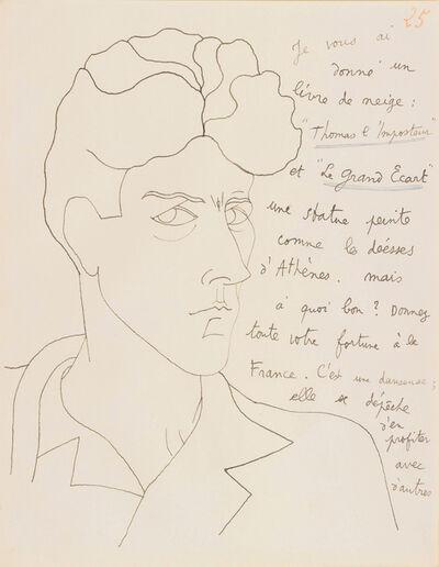 Jean Cocteau, 'LE MYSTERE DE JEAN L'OISELEUR, AUTOPORTRAIT NR 25', 1924