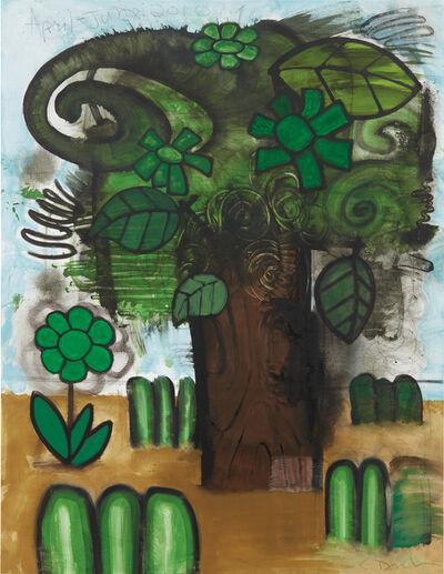 Carroll Dunham, 'Green Flowers (5)', 2010