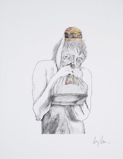Henry Hudson, 'Man devouring Big Mac (1)', 2014