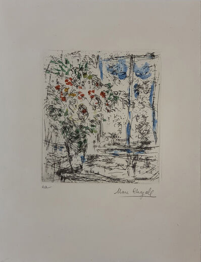 Marc Chagall, 'La Fenêtre de l'Atelier à Saint-Paul', 1968