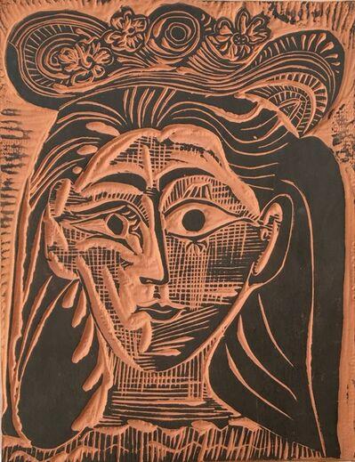 Pablo Picasso, 'Femme au chapeau fleuri (Woman with Flowery Hat)- A. R. 521', 1964