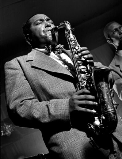 "Herman Leonard, 'Charlie ""Bird"" Parker, NYC', 1949"