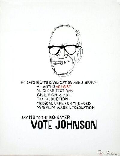 Ben Shahn, 'Vote Johnson', 1964