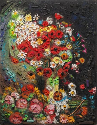 Vik Muniz, 'Metachrome (Flowers, after Vincent van Gogh)', 2016