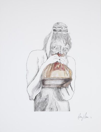 Henry Hudson, 'Man Devouring Big Mac (4)', 2014