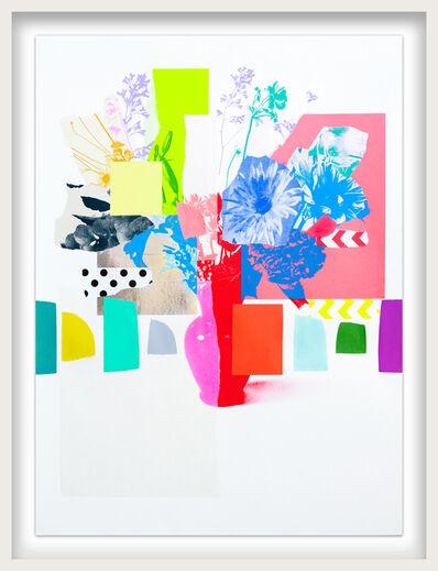 Emily Filler, 'Paper Bouquet (blue + coral hydrangea)', 2021